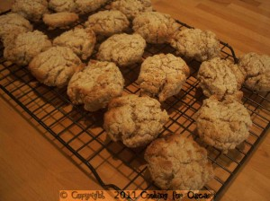 Apple or Pear Rice Bubble Biscuits