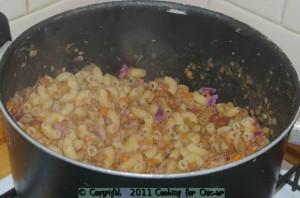 Cooking Pumpkin and Lentil Pasta