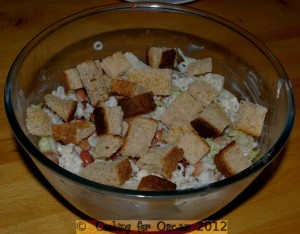 Bean and Pear Pasta Salad with Croutons