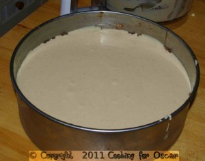 Making Chocolate Cashew Butter Cheesecake