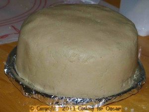 Covering a Cake in Cashew Marzipan