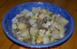 Potato Egg and Bacon Salad