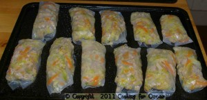 Rolling Baked Spring Rolls