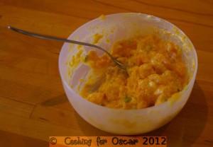 Making the Stuffing for Pumpkin Stuffed Chicken