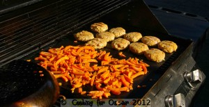 Chicken Burgers and Sweet Potato Fries