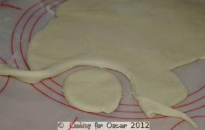 Cutting out Swedish Vanilla Buns
