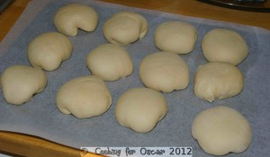 Making Swedish Vanilla Buns
