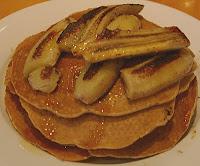 Muesli Pancakes (with Fried Bananas)