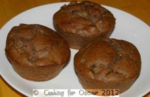 Pear and Roast Carob Muffins