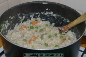 Cooking Roast Chicken and Vegetable Risotto