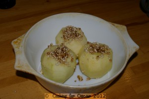 Making Baked Apples with Quinoa