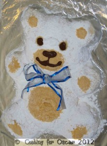 Marshmallow Teddy Bear Birthday Cake