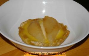 Custard and Pear Tarts