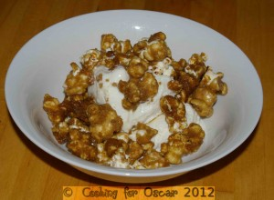 Caramel Popcorn with Ice Cream