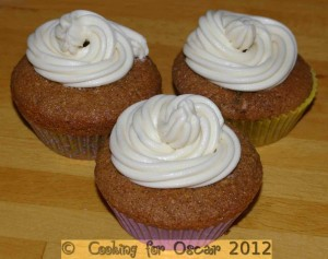Coffee Cup Cakes with Maple Butter Cream Icing