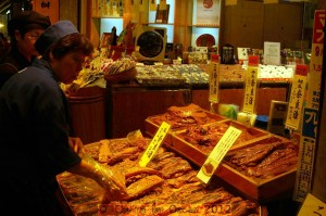 Japanese Market in Kyoto - Seafood