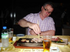 Kyoto Riverside Restaurant - Hot Rock Cooking