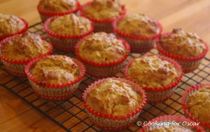 Carrot, Zucchini and Apple Muffins