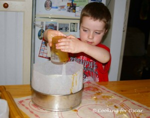 Making the Golden Syrup and Chocolate Sticky Bun