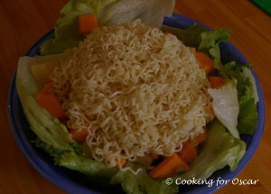 Pear and Paw Paw Noodle Salad