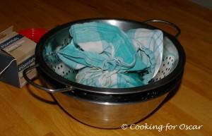 Making Strained Yogurt