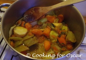 Making Vegetable Stock Concentrate