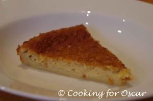 Crustless Coconut Pie