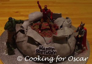 Making an Avengers Cake