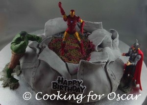 Totally Awesome Avengers Cake