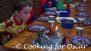 Oscar's Super Hero Party