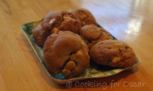 Rye and Spelt White Choc chip Cookies