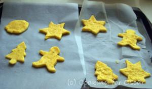 Making Christmas Cheese Puffs