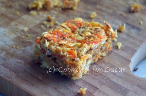 Carrot and Zucchini Muesli Slice